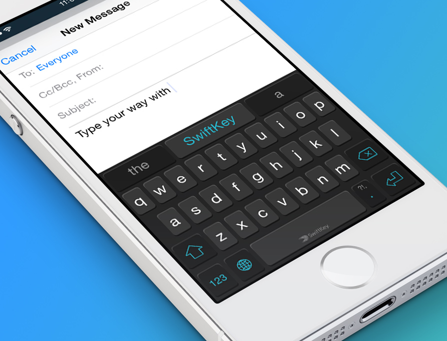 Try Custom Keyboard for iOS 8