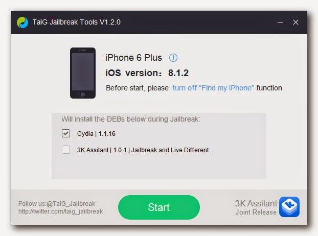 Jailbreak iOS 8.1.2 for Windows