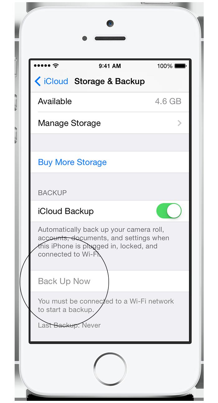 iPhone Backup through iCloud