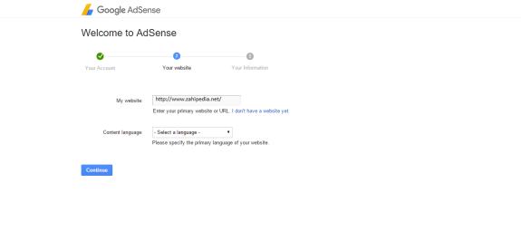 Step 2: Enter your website's details